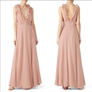 Reformation Peppermint Wrap Maxi Dress Blush